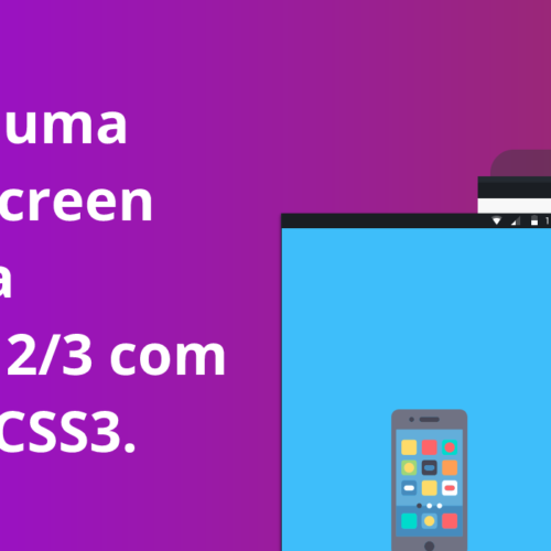 Criando uma  Splash Screen animada no Ionic 2/3 com HTML e CSS3